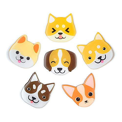 Morcart Refrigerator Magnets Cartoon Pet Dog Magnets (6pcs) 3D Pattern for Kitchen Kids Toys Students Lockers Whiteboard Office Menu Message Board