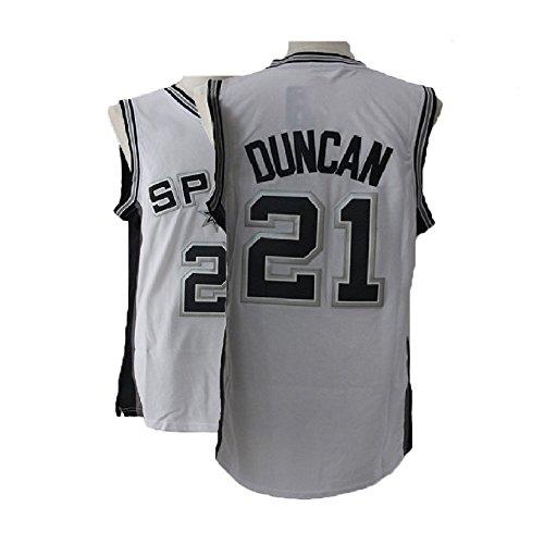 Kedelac Men's Duncan Retro Jerseys Tim White Athletics Jerseys Basketball #21 Jersey (M) -