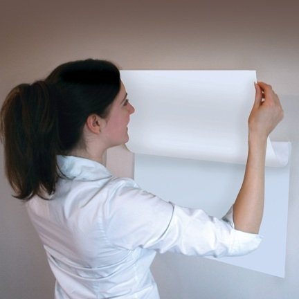 Silicon Valley Startup Supplies A4 Size Peel and Stick Whiteboard Surface, White