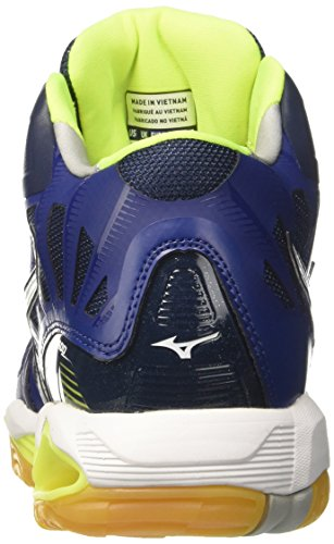 Multicolore Homme Bluedepths Tornado Wave de Mizuno Chaussures Safetyyellow Mid Volleyball White 0HqnY