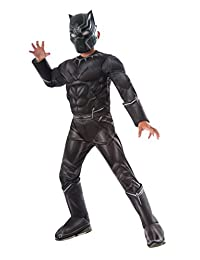 Rubies Costume Captain America: Civil War Deluxe Black Panther Costume, Medium