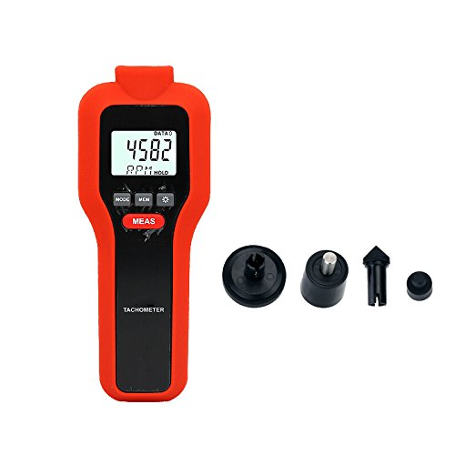 Digital Tachometer, Mengshen 2 in 1 Non-Contact & Contact Speed Meter Rotation Tester - M522 (1 Contact 1 And)