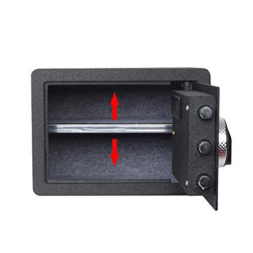 Fingerprint Security Safe Box Fireproof Waterproof Lock Box Cabinets Gun Pistol Cash Strongbox Solid Steel Safety Jewelry Storage Money Boxes w/Deadbolt Lock&2 Emergency Keys&4 Battery Wall-Anchoring by Reliancer (Image #7)