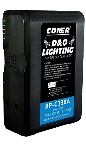 130Wh Anton Bauer Gold Mount Battery Lithium Ion Pack for Camcorder Broadcast Replacement Brick with D -Tap Connector by D & O Lighting
