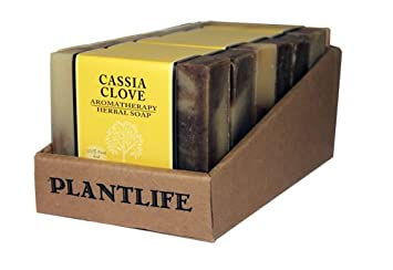 Value 6 Pack- Cassia Clove 100 Pure Natural Aromatherapy Herbal Soap- 4 oz each