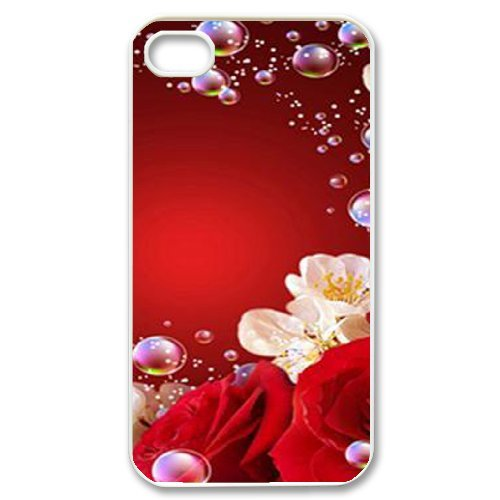SYYCH Phone case Of Bright Color Flower 1 Cover Case For Iphone 4/4s