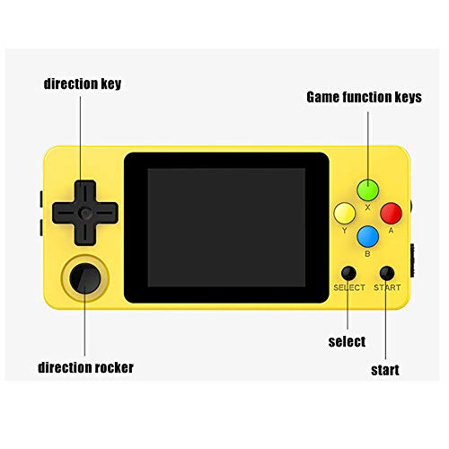 crae9kd LDK Second Generation Game Console Mini Handheld Family Retro Games Console Yellow by crae9kd (Image #6)