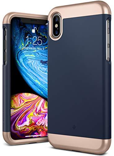 Caseology [Savoy Series] iPhone Xs/iPhone X Case - [Stylish Design] - Navy Blue