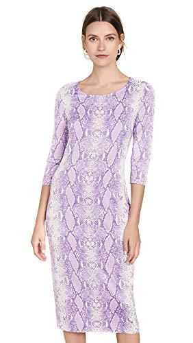 Diane von Furstenberg Women's Saihana Dress, Python Lavender, Purple, Print, Small Diane Von Furstenberg Silk Jersey