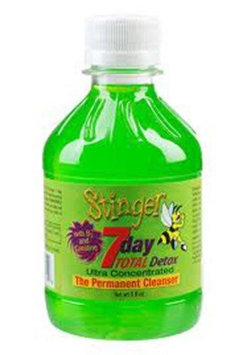 Bundle - Stinger Total Detox Green + Stinger the Buzz Detox Cleaners 5 Caplets + Stinger Mouthwash with Free I'm Baked Bro & Doob Tubes Sticker by (Green Stinger)