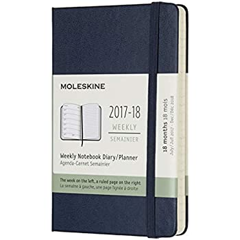 Moleskine 18 Month Weekly Planner, Sapphire Blue, Pocket, Hard Cover (3.5 x 5.5)