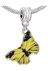 Butterfly Charm Bead for European Snake Chain Charm Bracelet