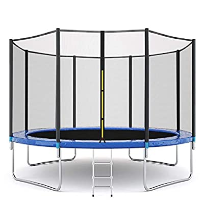 SNOWSONG USA Stock 12Ft Trampoline with Safety Enclosure Net, Spring Pad, Ladder, Combo Bounce Jump Trampoline, Outdoor Trampoline for Kids, Adults (Black, 12 FT) : Sports & Outdoors