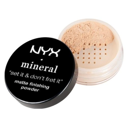(NYX Professional Makeup Mineral Finishing Powder, Light/Medium, 0.28 Ounce )