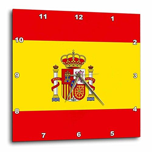 3dRose dpp_28285_2 Spain Flag-Wall Clock, 13 by 13-Inch by 3dRose