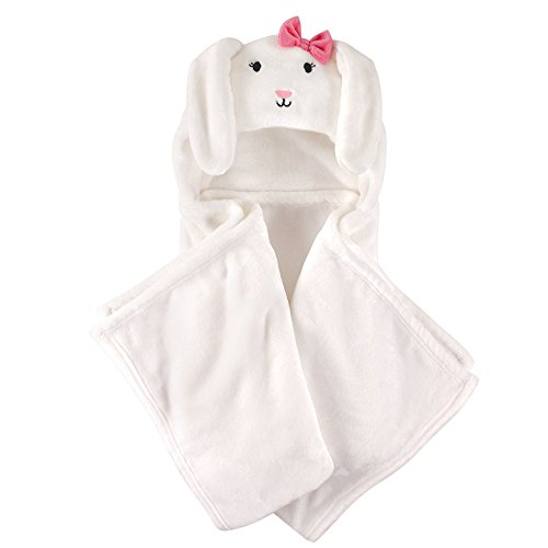 Hudson Baby Unisex Baby and Toddler Hooded Plush Blanket, Bunny, One - Baby Bunny Towel Bath