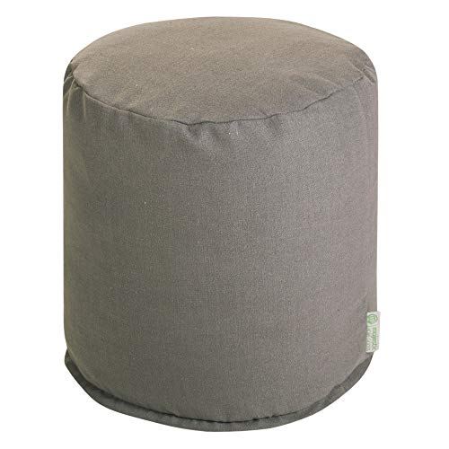 Majestic Home Goods Gray Wales Indoor Bean Bag Ottoman Pouf  16