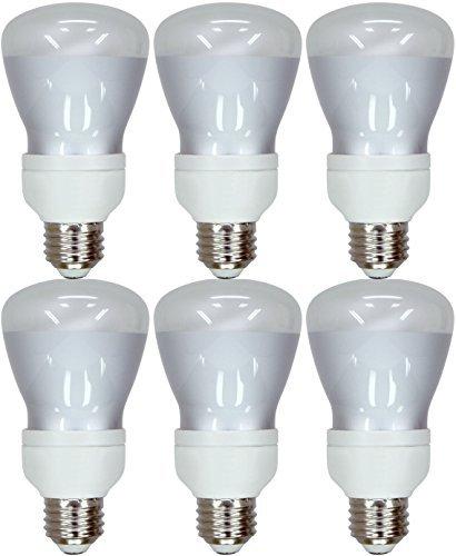 Set of 6 GE Lighting 24691 Energy Smart CFL 11-Watt (45-watt replacement) 400-Lumen R20 Floodlight Bulb with Medium (11w R20 Compact)