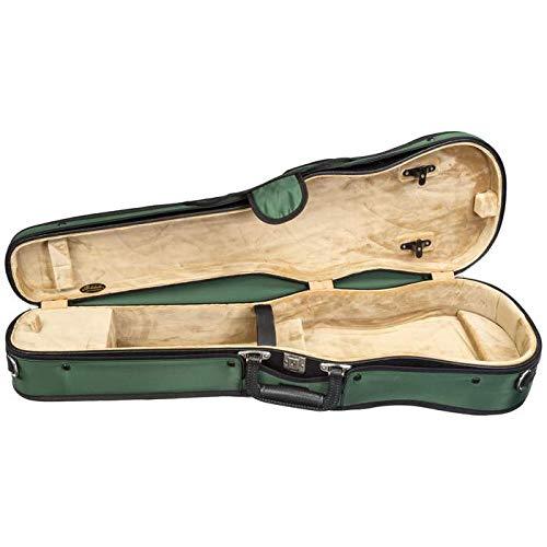 Bobelock 1007 Fiberglass Shaped 4/4 Violin Case, Green exterior with Tan interior (Bobelock Fiberglass Violin Case)