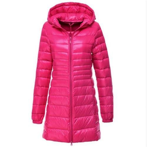 f54ac6c7f HITSAN Women Ultra Light Down Jacket Autumn Winter Warm White Duck ...