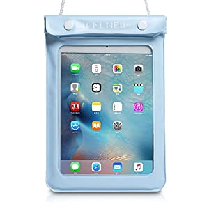 WALNEW Universal Waterproof eReader Protective Case Cover for Amazon Kindle Oasis/Paperwhite/Touch/Kindle Fire 7, Sony eBook Reader Wi-Fi, Kobo Touch,Nook Simple Touch, iPad Mini, Lightblue