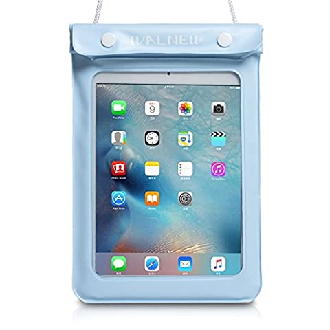 WALNEW Universal Waterproof eReader Protective Case Cover for Amazon Kindle Oasis/Paperwhite/Touch/Kindle Fire 7, Sony eBook Reader Wi-Fi, Kobo Touch,Nook Simple Touch, iPad Mini, (Waterproof Kindle Voyage Case)