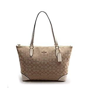 COACH Outline Signature Zip Tote