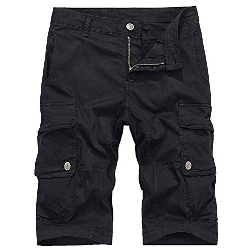 coloré Demi Noir Short Hommes Sport Léger Avec À Multiples Reniflard Kaki Pour pantalon Fuweiencore 29 Taille De Poches O4xn1