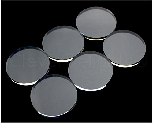 - 20 Pack - CleverDelights Round Glass Tiles - 40mm (1 9/16