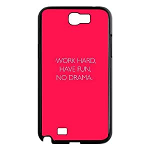 Samsung Galaxy N2 7100 Cell Phone Case Black_quotes work hard have fun no drama Fpoia