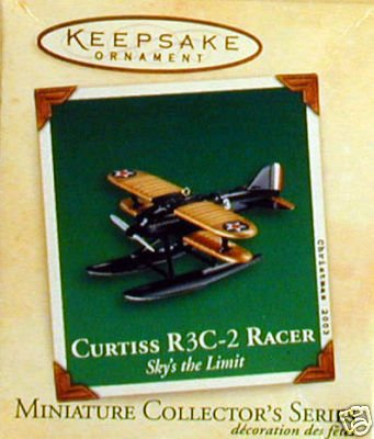 2003 Hallmark Ornament Miniature Curtiss R3C-2 Racer # 3 Sky's The Limit Series - Curtiss Racer