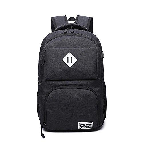 Aoligei Affaires multifonctionnel toile sac à dos double épaule-laptop Bag USB Interface B