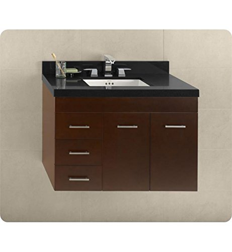Ronbow 011236-R-H01 Bella Wall Mount Bathroom Vanity Base Cabinet with Doors on Right, 36