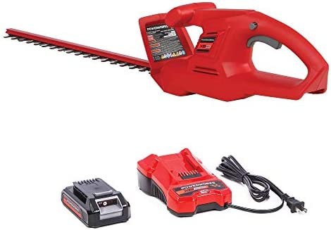 Powerworks HTP301 XB 20V 20-Inch Cordless Hedge Trimmer, 2Ah Battery and Charger, 20 inch