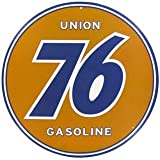 Union 76 Gasoline Embossed Tin Sign