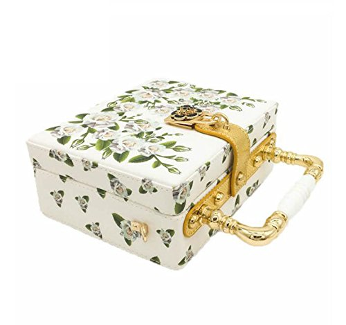 sac Nouveau mode de la femmes main embrayage sac fête White soirée de pour sac Shimmer imprimé à mode mariage RYRWP58r