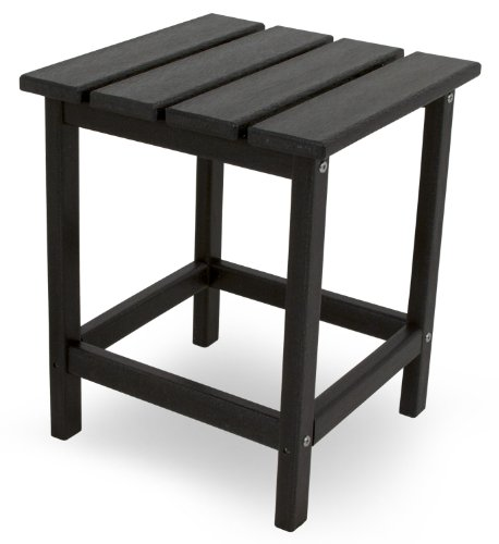 "POLYWOOD ECT18BL Long Island 18"" Side Table, Black"