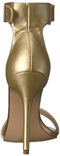 Pleaser Amuse-10, Ladies Ankle Strap Sandalen Goud Mat. Pu