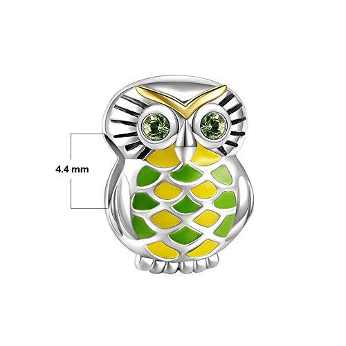 Soufeel 925 Argent Sterling hibou dans le forte Charm Compatibles Europeen Bracelet pour charm colliers bracelet