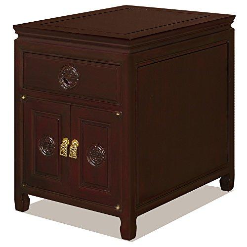 China Furniture Online Rosewood Carved Longevity Symbol Cabinet ()