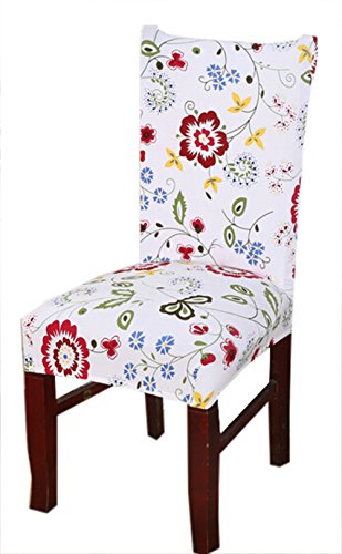 Stretch Removable Washable Short Dining Chair Cover Protector Seat Slipcover (10)