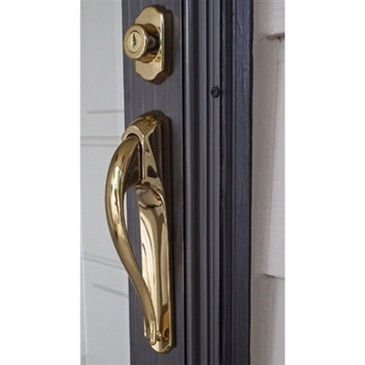 Storm Door Pull Handle Lockset 3/4'' Thick Door Bright Brass by International Resouces, Inc (Image #3)