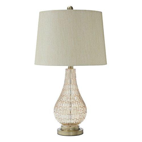 Ashley Furniture Signature Design - Latoya Table Lamp - Contemporary - Champagne
