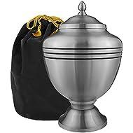 Trupoint Memorials Eternal Hope Pewter Large Urn for Human Ashes - w Velvet Bag