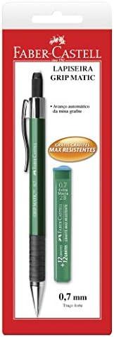 Kit Lapiseira 0.7mm com Grafite, Faber-Castell, Grip Matic Metal, SM/07GM, Cores Sortidas