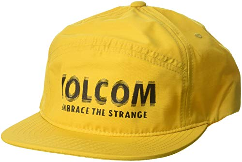 Volcom Men's Volstranger Adjustable Hat, Acid Yellow, One Size Fits All