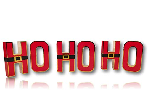 Plum Nellie's Treasures Tabletop Christmas Decorations - HO HO HO Santa Suit Tabletop (6 Pieces)]()