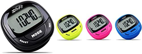 Realalt 3DTriFit 3D Pedometer Activity TrackerAccurate Pedometer for Walking
