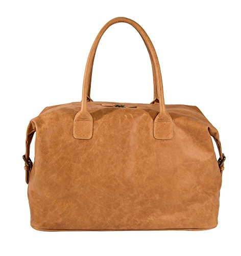 The Aartisan 21'' Handcrafted Genuine Leather Duffel Bag for Men Travel Weekend Bag (Chestnut), Free Gift Included, Multi Purpose Use by THE AARTISAN (Image #1)