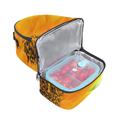 almuerzo para de Bolso con correa diseño doble mariquita picnic girasol y ajustable de 5awwqPR